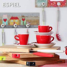 Από την Espiel , φλυτζάνια με στυλ σε έντονο κόκκινο χρώμα!