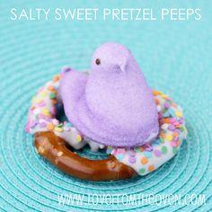 salty sweet pretzel peeps