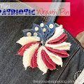 Mini Patriotic Wreath Pin so festive!  via @mmscrapshoppe