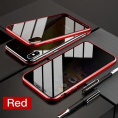 Magnetic Tempered Glass Privacy Metal Case For iphone XR XS 11 Pro MAX X 8 7 6 Plus 360 Magnet Antispy Protective Cover - For iphone 6 / Red Apple Iphone 6, Iphone 7, Iphone Cases, Privacy Glass, Samsung, Plus 8, Glass Screen, Galaxies, The Secret