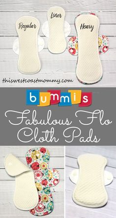 Best 12 Save money and trash with reusable cloth pads from Bummis! Reuseable Pads, Reusable Menstrual Pads, Sewing Tutorials, Sewing Crafts, Sewing Projects, Sewing Patterns, Period Pads, Feminine Pads, Mode Turban