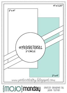 Mojo Monday 524 Card Sketch by Julee Tilman. Mojo Monday 524 Card Sketch by Julee Tilman. Scrapbook Sketches, Card Sketches, Scrapbook Layouts, Sketch Inspiration, Sketch Ideas, Card Making Templates, Honey Bee Stamps, Karten Diy, Sketch Design