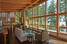Contemporary prefabricated home on Orcas Island by FabCab