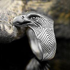 Viking Eagle ring. Eagle head ring. Eagle Power Animal by RuyaN