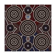 Illustration of A illustration based on aboriginal style of dot painting depicting Being and seeming vector art, clipart and stock vectors. Aboriginal Dot Painting, Dot Art Painting, Mandala Painting, Stencil Painting, Painting Patterns, Mandala Art, Rock Painting, Aboriginal Art Australian, Pattern Coloring Pages