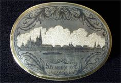 Russian niello work on silver(Veliky Ustyug Chern)