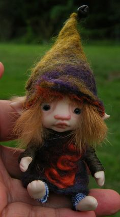 sweet tiny ooak posable 3.5  inch fairy by throughthemagicdoor, $98.00