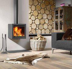 Hangende open haard #fireplace