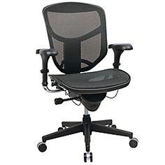 "Realspace® PRO Quantum Mesh Mid-Back Task Chair, 43 3/4""H x 29 1/2""W x 28""D, Black"