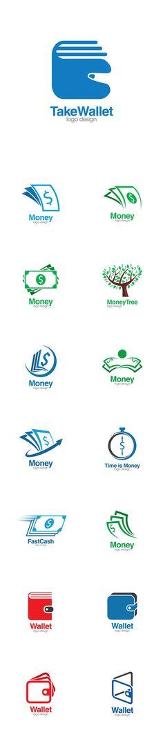 Vectors - Wallet and Money Creative Concept Logo Design Template