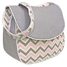 Best Chevron Diaper Bag | Grey, Pink, Blue, Navy, Black and White, Yellow and More