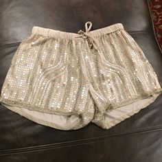 Brand new English rose sequin shorts Brand new with tags !!! English rose Shorts