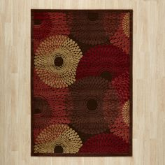 Brown Geometric Area Rug