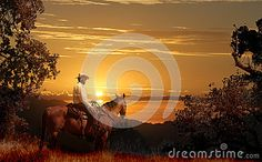 A Cowboy Riding On His Horse VII. - Download From Over 39 Million High Quality Stock Photos, Images, Vectors. Sign up for FREE today. Image: 35056410