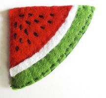 Watermelon felt bookmark by Narthys