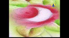 ▶ Vida com Arte   Pintura em Tecido Molhado Motivo Rosas por Luis Moreir...
