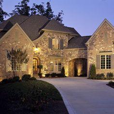 Blonde Brick Exterior Design Ideas, Pictures, Remodel and Decor