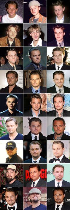 Leonardo DiCaprio ao longo dos anos -  /  Leonardo Dicaprio over the years -