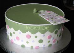 Pink and green forndant cake for a 30 year old. By thecakeattic.com in Salisbury, NC This picture and others can be found at www.facebook.com/thecakeattic