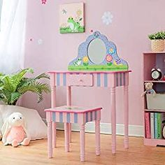 10 Best Little Girls Vanity Table Set Price and Review Girls Vanity Table, Kids Vanity Set, Vanity Table Set, Vanity Set With Mirror, Vanity Stool, Fleur Design, E Design, Little Girl Vanity, Toy Storage Bench