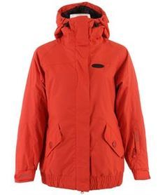 Dropping that bowl this year is a piece of cake in the Dakine Hayley Snowboard Jacket for women! Simple, solid colors make a bold statement, testifying to what this jacket is capable of. Designed with a serious 10,000mm of waterproof material and 10,000g of breathability, moisture will most likely not find the likes of your skin this season. Dakine paid careful attention to what makes a good snowboard jacket a great snowboard jacket, including a 2-way open front zipper, a storm flap, pit…