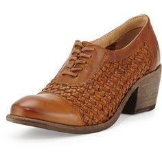 Frye Maggie Woven Leather Oxford