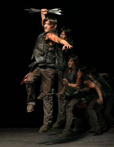 The Walking Dead Daryl Dixon jumping. This was originally posted on the Norman Reedus page on FB. Daryl Twd, Daryl Dixon Walking Dead, Walking Dead Season, Fear The Walking Dead, Daryl Dies, Amc Twd, Best Tv Shows, Favorite Tv Shows, Favorite Things