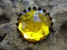 Faux topaz Victorian brooch by uniqueeuphoria on Etsy, $5.00