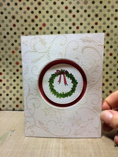 {{my own little corner of the web}}: Wreath card