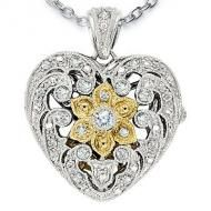 Locket | Jewelry.  Sterling Silver Heart Two Tone CZ Locket.  One of many beautiful lockets available from Pictures On Gold.  Come have a look around, they're spectacular.  http://www.picturesongold.com/shop/sterling_silver_lockets.html?gad=COj9gOICEgi6of9h99RUuhi6tIT_AyDw4b8V&utm_source=CJ&utm_medium=PPC&utm_campaign=Silver_Lockets
