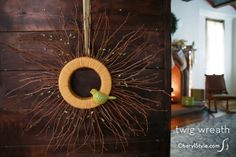 DIY upcycled twig wreath | CherylStyle.com