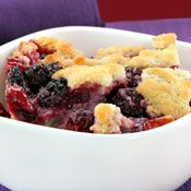 Three Berry Cobbler, Recipe from Cooking.com