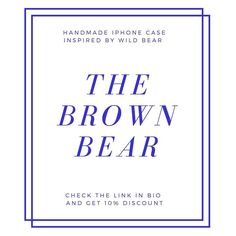 The Brown Bear case available in two options choose your favorite by going through photos to the right What then?Check the link in bio to get 10% discount