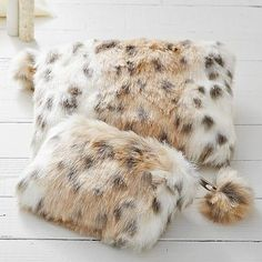 Fur Snow Leopard Beauty Pouches and Set #pbteen
