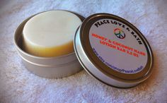Handmade all natural hard lotion bar. .Made with olive oil, coconut oil, and beeswax. There are no fragrances added to this lotion...BUT IT DOES HAVE A SMELL OF COCONUT AND HONEY because of the ingredients used. Very moisturizing. A little goes a long way. Great for sensitive skin and does WONDER...