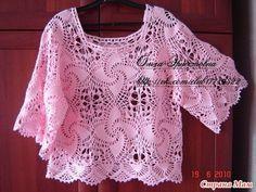 Blusa con motivos calados en crochet   Manualidades