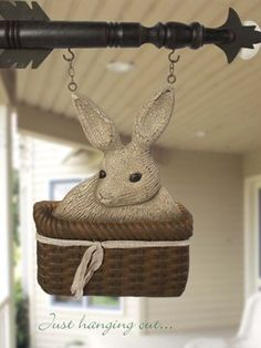 Bunny in Basket arrow hanging