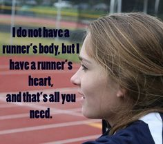 """OP wrote: """"I don't look like """"runner"""", whatever that means, and it's held me back for a long time. Finally I decided that running is what makes me a runner, not the way I look. Citation Motivation Sport, Running Motivation, Fitness Motivation, Fitness Quotes, Fitness Tips, Track Quotes, Running Quotes, I Love To Run, Just Run"""