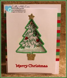 To You and Yours Shaker Card Project Kit, Versatile Christmas, Peaceful Pines, Perfect Pines Framelits Dies, Katherine Macdonald, Stampin' Up!