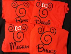 This listing is for a Mickey or Minnie Mouse head shirt, customized with your choice of name to be added. Please see our shop policies for Run Disney, Disney World Vacation, Disney Diy, Disney Dream, Disney Style, Disney Love, Disney Cruise, Disney Crafts, Disneyland Vacation