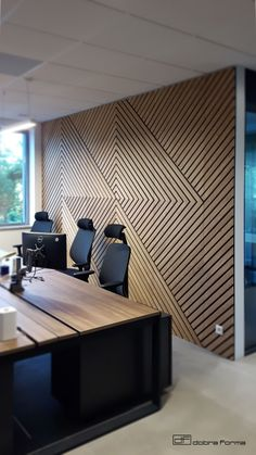 wall panels, comb wall panels, wall coveting, wall panels design, wall panels id. Office Interior Design, Interior Walls, Office Interiors, Feature Wall Design, Wall Panel Design, Wooden Wall Design, Wooden Walls, Wooden Wall Panels, 3d Wall Panels