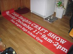 Red banner with white vinyl graphics from Customized by Design White Vinyl, High, Screen Printing, Red And White, Banner Ideas, Graphics, Banners, Prints, Craft