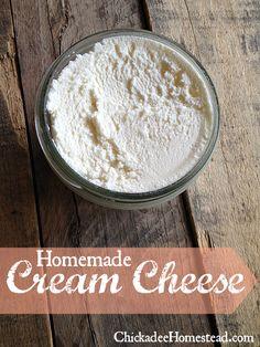 Homemade Cream Cheese - Chickadee Homestead