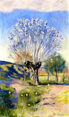 Willow Tree Ferdinand Hodler - circa 1891