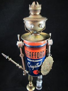 Reserved for Z  Stafford Bot  found object robot by ckudja on Etsy, $190.00