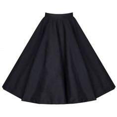 1950s Skirts for Sale: Poodle, Pencil, and Circle Skirts Peggy Fifties Style Black Rock n Roll Full Circle Skirt £24.65 AT vintagedancer.com