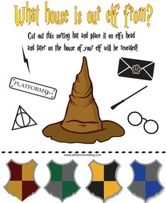 Elf on the Shelf Harry Potter Sorting Hat Free Printable