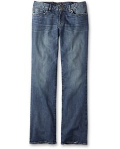 Slightly Curvy Boot Cut Jeans   Eddie Bauer, tall size 4 blue