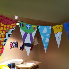 toy story character theme bunting.