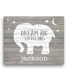 Give a little one's décor an extra-special touch with this charming personalized canvas. Shipping note: This item will be personalized just for you. Allow extra time for your special find to ship.